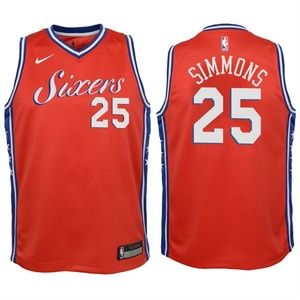Youth Philadelphia 76ers Ben Simmons Jersey Red